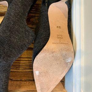 Donald J. Pliner Shoes - Donald J. Pliner gray wool booties